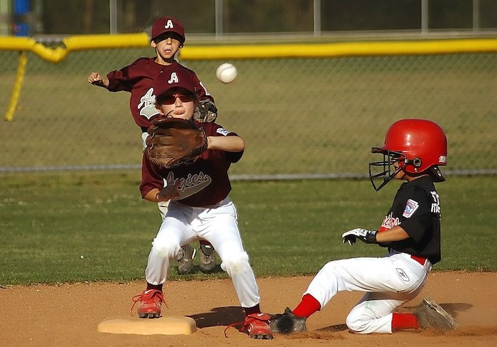 player sliding into base